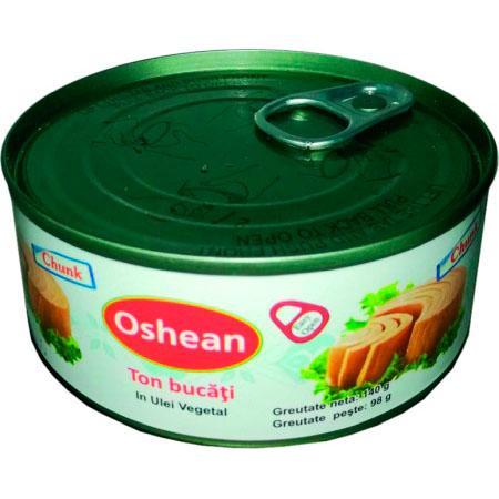 Oshean ton bucati in ulei vegetal 120 g