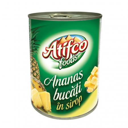 Atifco ananas taiat conserva 565 g