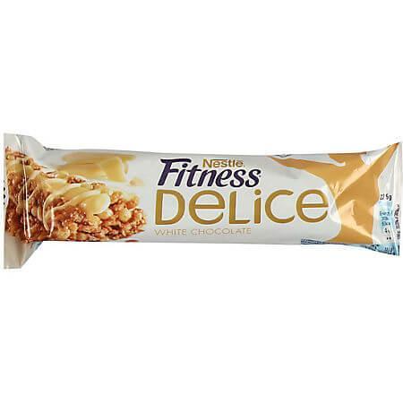 Baton de cereale cu ciocolata alba 22.5g Fitness Delice