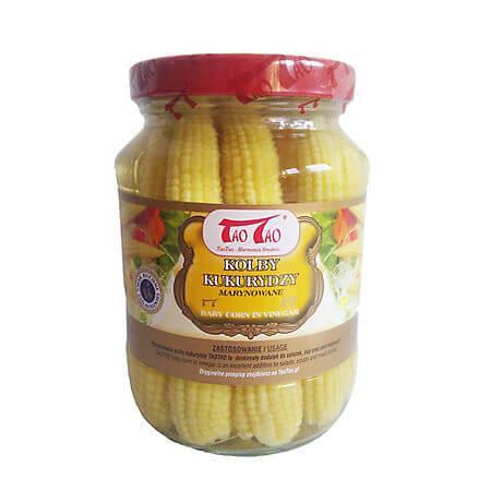 Baby corn in otet, 330g, Tao Tao