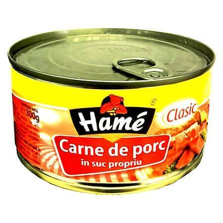 Carne de porc in suc propriu 300g Hame