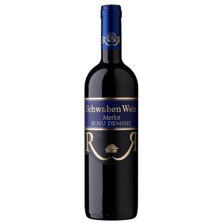Vin rosu demisec Schwaben Wein - Merlot 750 ml