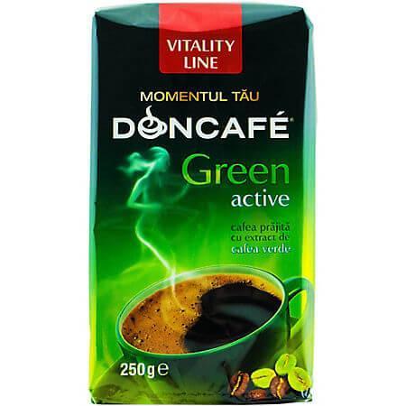 Cafea prajita cu extract de cafea verde 250g Doncafe