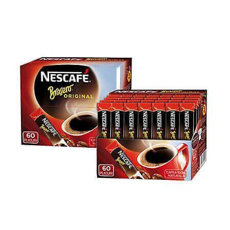 Cafea solubila 1.8g Nescafe Brasero, 60 buc/cutie