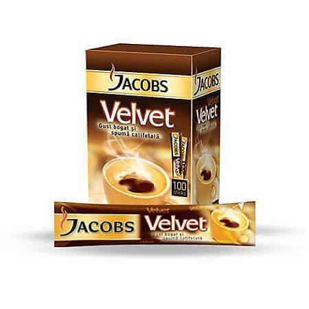 Cafea solubila Velvet 1.8g Jacobs, 100 buc/cutie