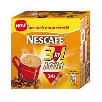 Nescafe 3in1 Mild cafea instant 15g, 24 pliculete/cutie