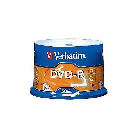 DVD-R Verbatim 16x, 4.7GB, 50 buc/set