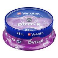 DVD+R Verbatim 4.7 GB, 16x, 25 buc