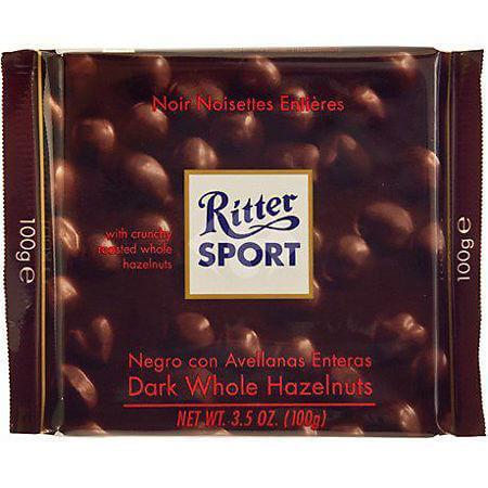Ciocolata amaruie cu Alune intregi Ritter Sport 100g