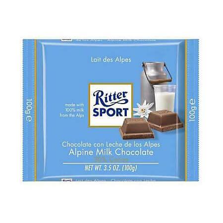 Ciocolata lapte alpin 100g Ritter