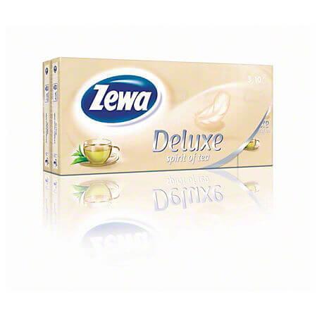 Batiste nazale 3 straturi Zewa Delux Tea, 10 buc/set