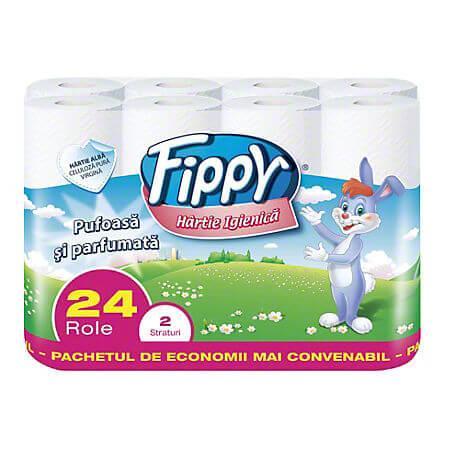 Hartie igienica 2 straturi Fippy 24 role