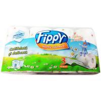 Hartie igienica 3 straturi, musetel, 8 role Fippy