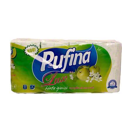 Hartie igienica Pufina Lux 3 straturi, 8 role/set