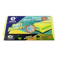 Bureti caneluri soft power E-pack - 3 buc/set