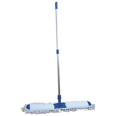Mop plat bumbac 80cm, coada aluminiu 125cm