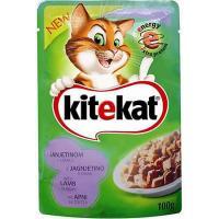 Plic hrana umeda pentru pisici adulte, cu Miel, 100 gr Kitekat