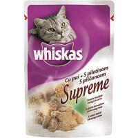 Plic hrana umeda pentru pisici adulte Supreme, cu Pui, 85g, Whiskas