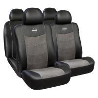 Huse scaune auto Alfa Romeo 155 premium Momo piele ecologica Suede 11 bucati