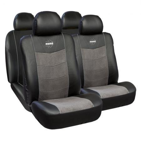 Huse scaune auto Alfa Romeo 164 premium Momo piele ecologica Suede 11 bucati