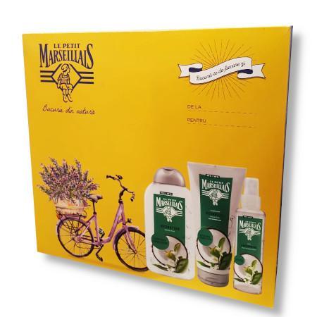 Pachet 3 produse Sampon 200ml + Balsam 200ml + Spray par 200ml Le Petit Marseillais
