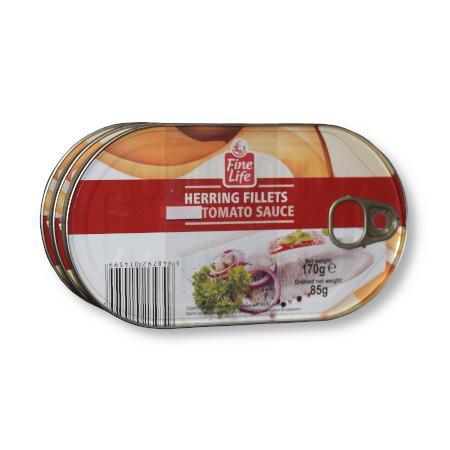 Conserva herring file in sos tomat 170g