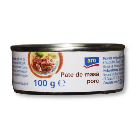 Pate de masa porc 100g Aro