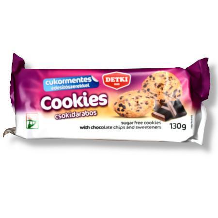 Bax biscuiti fara zahar cu fulgi de ciocolata 130g Detki