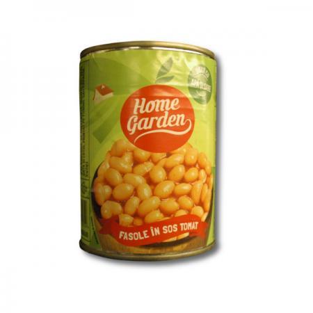 Fasole in sos tomat Home garden conserva 400 g