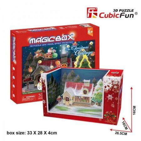 Casuta de Craciun - Puzzle 3D - 30 de piese