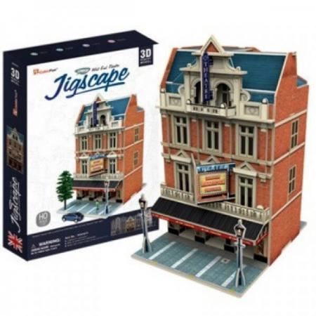 Colectia Jigscape - Teatrul West End - Puzzle 3D - 55 de piese