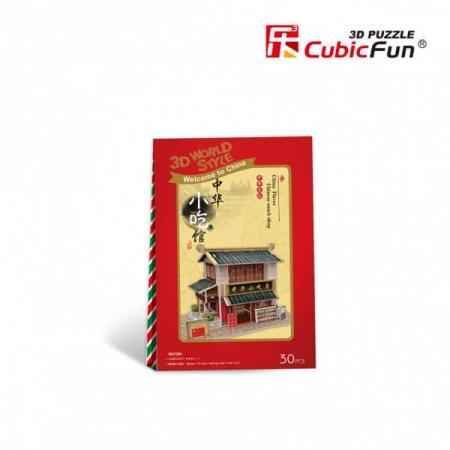 Magazin alimentar chinezesc - Puzzle 3D - 30 de piese