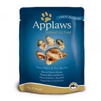Hrana umeda pentru pisici Applaws cu file de ton si dorada 70 gr