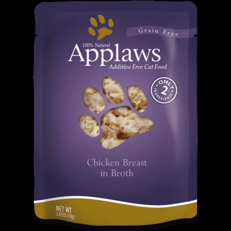 Hrana umeda pentru pisici Applaws cu piept de pui si orez salbatic 70 gr