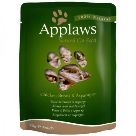 Hrana umeda pentru pisici Applaws cu piept de pui si sparanghel 70 gr