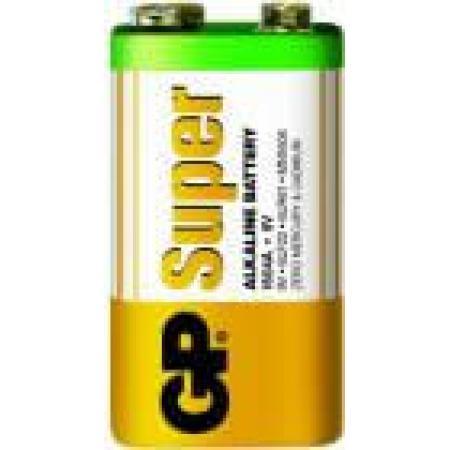 Baterie alcalina 9V infoliat Super GP, pret per buc