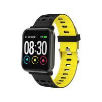 Smart Watch T-FIT 210 HB, negru/galben, puls, tensiune, Trevi