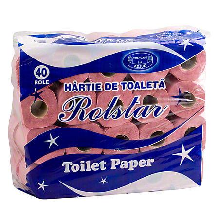 Hartie igienica Rolstar 1 strat, 40 role/set